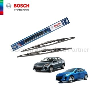 "Harga Bosch Advantage Wiper Blade Set 24"" + 19"" Mazda 3/ Mazda 3 Hatcback 2008-2013 (Black) - Compatible only with U-Hook Type"