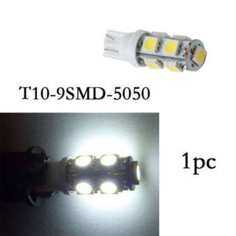 Harga Possbay 1X T10 White 5050 9SMD 12V LED Bulbs Interior Tag Map Reading Door Lamp