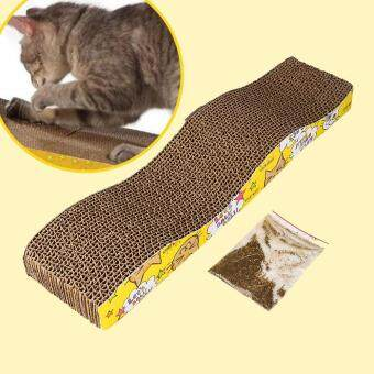 Harga Cat Corrugated Cardboard Scratch Board Pad Scratcher Bed Mat Claws Care Toy