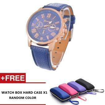 Harga Nero Fashion Women Quality Leather Belt Casual Fashion Watches (Blue)