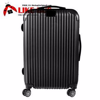 "Harga Bon Voyage!!! 20"" + 24"" Premium Deluxe Hardcase Linear Stripe Forte Travel Luggage with Secure TSA Lock"