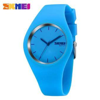 Harga SKMEI Watch 9068 Women Quartz Watches Fashion Analog Wristwatch Relogio Masculino Silicone Strap Waterproof Wristwatches Lady