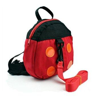 Harga PAlight Kids Ladybird Shaped Anti Lost Safety Walk Harness Backpack