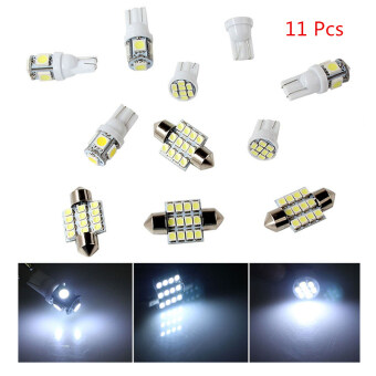 Harga 11pcs White LED Lights T10 & 31mm Dome Map &Tag Lamp for Interior Package Kit