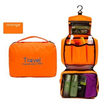 Harga GoTravel 7002 Korean Multipurpose Travel Organizer Kit Pouch Bag with Hook (Orange)