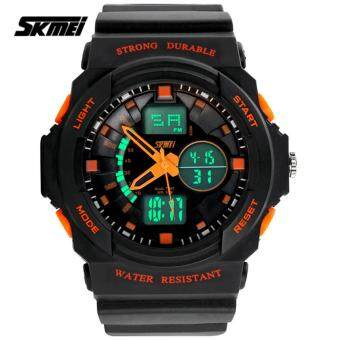 Harga SKMEI 0955 Men's LED Analog Digital Alarm Sport Watch (Orange)