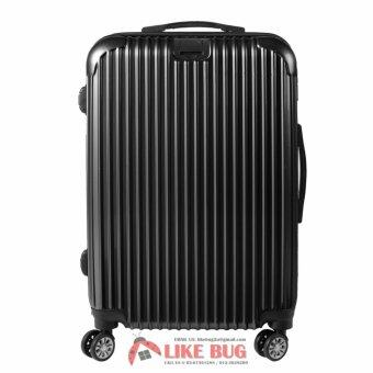 Harga Bon Voyage! Premium 28inch ABS + PC Hardcase Linear Stripe Travel Luggage with Secure TSA Lock