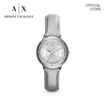 Harga ARMANI EXCHANGE SLIVER LEATHER WATCH