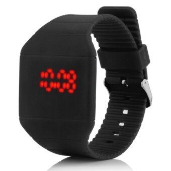 Harga 360WISH Unisex Ultra Thin Square LED Touch Screen Digital Sports Wristwatch Black (EXPORT)