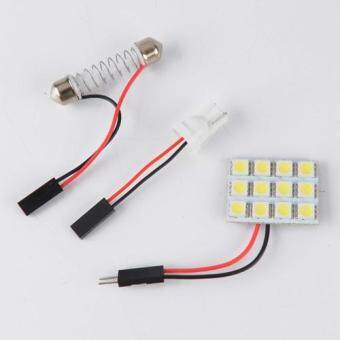 Harga 12 SMD 5050 Pure White Panel T10 BA9S Festoon car 12 Interior 12V 6000K 120LM