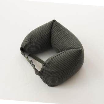 Harga MUJI Well fitted Neck Cushion U Shape Travel Neck Pillow Cushion Memory Foam Pillow Ergonomically Shaped Pillow and Seat Memory(Navy x Army Green)