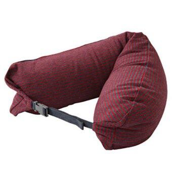 Harga MUJI WELL-FITTED (MICROBEAD) NECK CUSHION MELANG NVYxRED