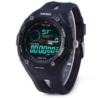 Harga SKMEI Men's Sports Military Digital and Analog Quartz LED Watch Black