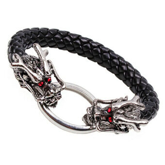 Harga Jiayiqi Dragon Leather Bangle Bracelet
