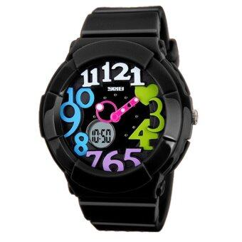 Harga SKMEI 1020 Kid's Waterproof Analog + Digital Wrist Watch - Blackcolourful