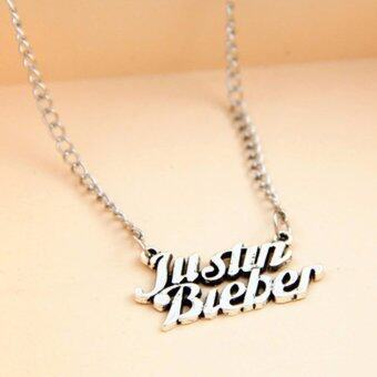 Harga Hequ Vintage justin bieber collares mujer silver chain choker necklaces pendants for women jewelry bijoux colliers women