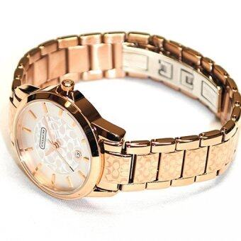 Harga Coach Women's Gold Stainless Steel Strap Watch 14501452