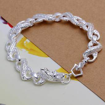 Harga Little White Dragon White Dragon bracelet silver chain bracelet H130