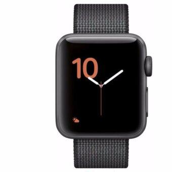 Harga Apple - Apple Watch 42mm Space Gray Aluminum Case Black Woven Nylon Sport Band