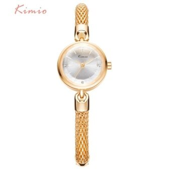 Harga 2016 Brand Luxury Watch KIMIO Ladies Simple Small Dial MeshBracelet Band Woman Watches Women Gold Wrist Watches For WomenClock