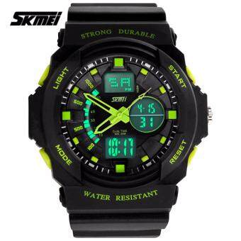 Harga SKMEI 0955 Men's LED Analog Digital Alarm Sport Watch (Green)
