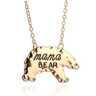 Harga Personalized Gold Mama Bear Mother Pendant Necklace Mothers Day Gift Fashion Jewelry -Gold