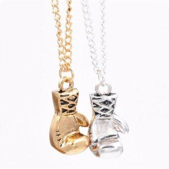 Harga Boxing Glove Pendant Necklace Girl Silver Gold Statement Necklaces Lady Jewelry Necklace