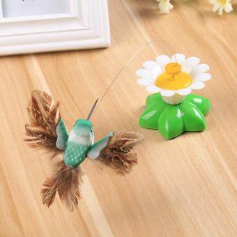 Harga New Steel Wire Funny Kitten Cat Bird Rod Teaser Pet Dangler Wand Indoor Toy