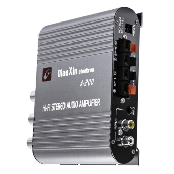 Harga A – 200 12V 200 Watt 2 Channel Powerful Car Audio Amplifier Amp for PC MP3 MP4 CD DVD Radio