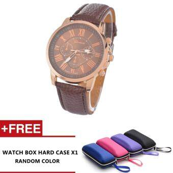 Harga Nero Fashion Women Quality Leather Belt Casual Fashion Watches (Brown)