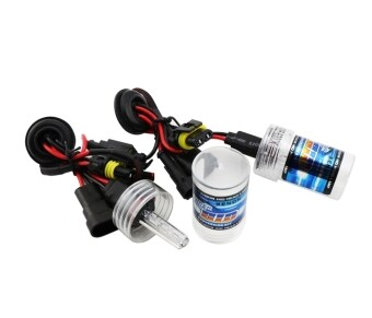 Harga 2x H4 55W Hi/Low Dual Beam HID Bi-xenon Bulb Lamp Light Conversion Slim KIT (5000k) (Intl)