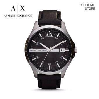 Harga ARMANI EXCHANGE BLACK LEATHER WATCH