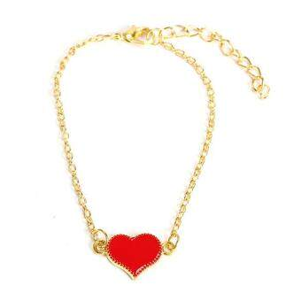Harga Lady Love Heart Chain Link Bracelet Bangle for Girls
