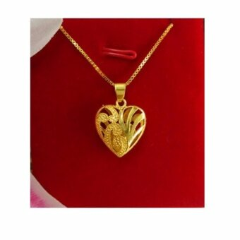 Harga 24K Gold Kaara Premium Heart Necklace - Gold