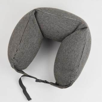 Harga MUJI Well fitted Neck Cushion U Shape Travel Neck Pillow Cushion Memory Foam Pillow Ergonomically Shaped Pillow and Seat Memory(Brown x Grey)