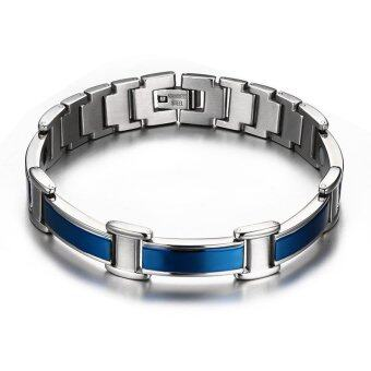 Harga Healthy Good for Body Men Magnetic Bracelets Bangles Stainless Steel Body Care Blue Bracelet for Friendship Gift