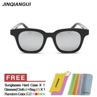 Harga JINQIANGUI Sunglasses Men Polarized Square Sun Glasses Silver Color Brand Design