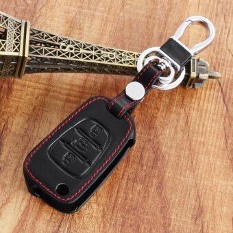 Harga Fit For KIA RIO K2 Cerato Optima K3 K5 Sportage R SOUL Ceed Cerato Leather Car Key Cover Case black