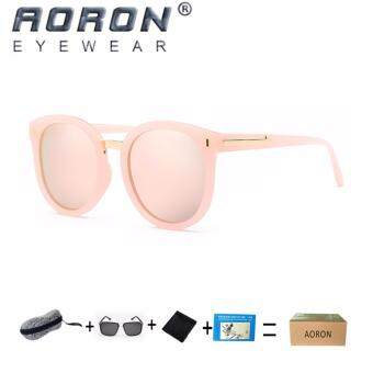 Harga [Buy 1 Get 1 Freebie] AORON Women's Fashion Accessories Trendy Sunglasses UV400 Polarized Sunglasses P370( Pink)