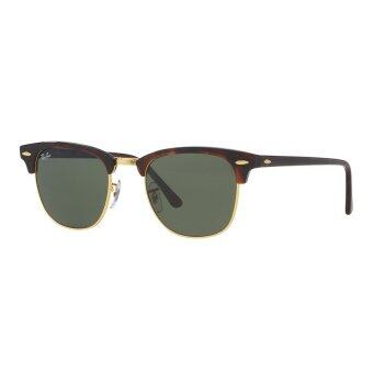 Harga Ray-Ban Clubmaster Crystal Green Lenses RB3016 W0366 Arista Sunglasses [49]