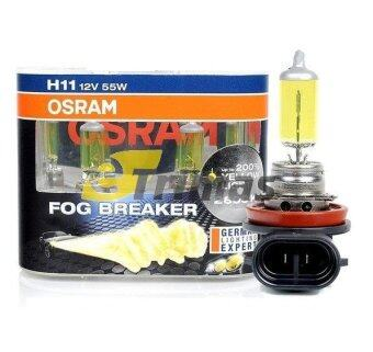 Harga GENUINE Osram Fog Breaker 2600K Yellow Light H1/H3/H4/H7/H11/HB3/HB4