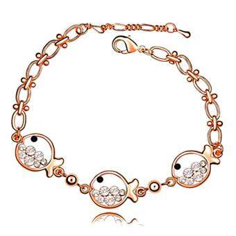 Harga LOVENGIFTS Swarovski Little Fish Bracelet