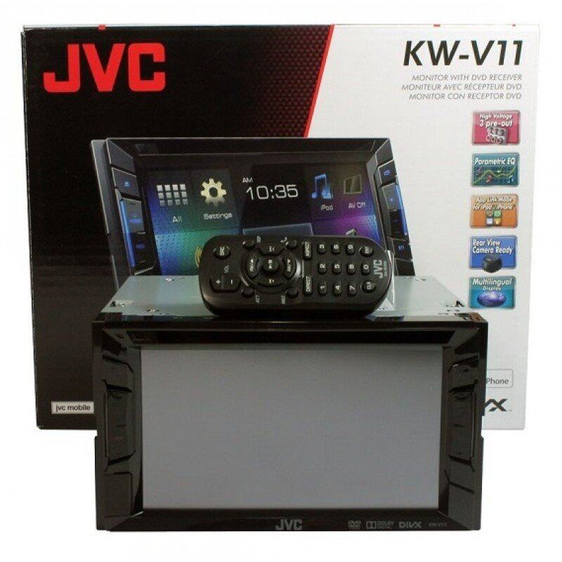 "JVC KW-V11 6.2"" Touch Screen Monitor DVD/USB Multimedia Receiver"
