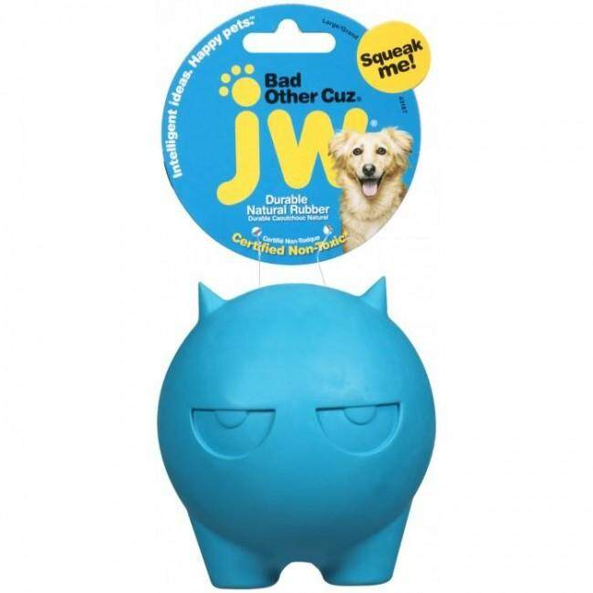 [JW PET TOYS] Bad Other Cuz Durable Natural Rubber Dog Toy - Small