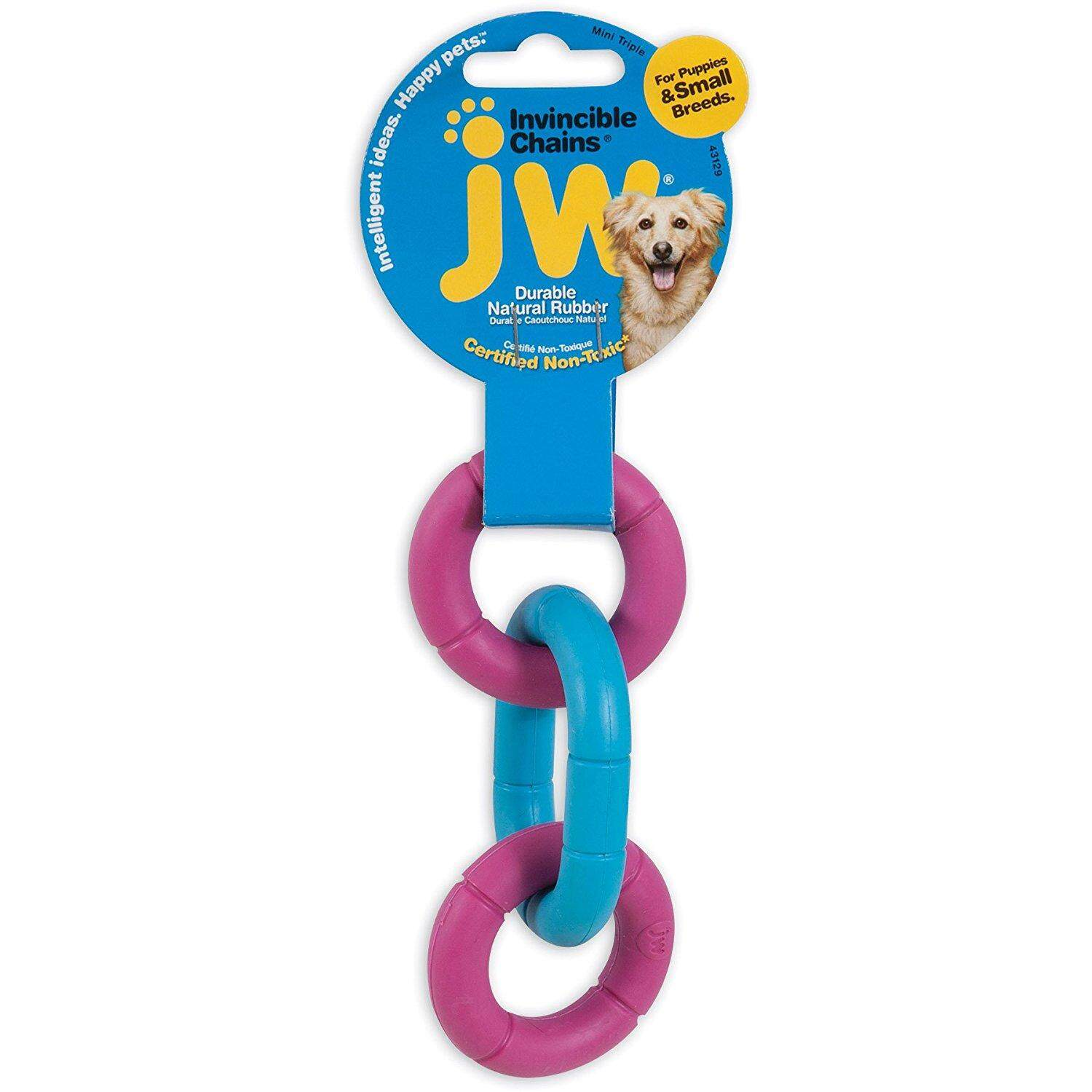 [JW PET TOYS] Invincible Chains Dog Solid Rubber Toy - Mini