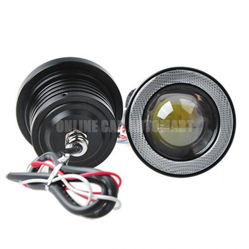 LED 3 inch 76mm R500 Universal Angel Eyes Fog Lamp Fog Light - White Led