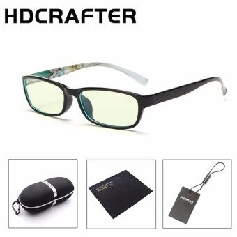 LUDA Anti-Fatigue Computer Radiation ProoEyeglassesframe Flat Anti Blue Light Tr90 Glasses Goggles