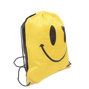 6031803b4a MagicWorldMall Darable Convenient Emoji Drawstring Bag Book Sports Gym Swim  Clothes Shoe Backpack Pull String Bags