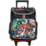 Marvel Avengers VAE1729R 16 Inch EVA LED Trolley School Bag- Black/Grey