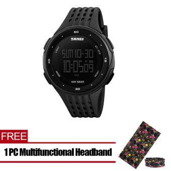 Men's Big Dial Multifunctional Waterproof Sports Digital Watch Black [ Buy 1 Get 1 Free ]